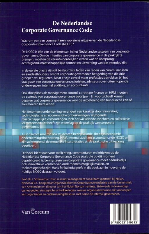 J. Strikwerda,De Nederlandse corporate governance code