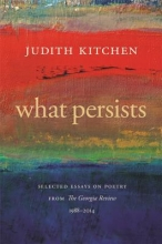 Kitchen, Judith What Persists
