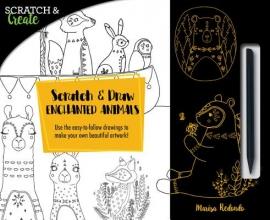 Scratch & Draw Enchanted Animals