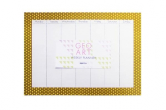 Geo Art Weekly Desk Planner and Mouse Pad