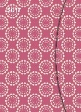 Pink Pattern 2017 Magneto Diary 16x22