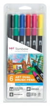 , Brushstift Tombow Abt Dual assorti blister à 6 stuks