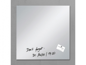 , glasmagneetbord Sigel Artverum 480x480x15mm spiegel