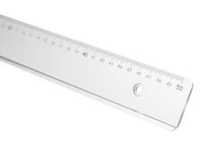 , Liniaal M+R 1150 500mm plastic transparant