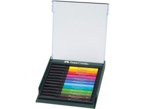 , tekenstift Faber-Castell Pitt Artist Pen Brush set 12 stuks Basic