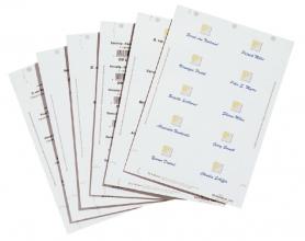 , Badgekaart Durable 1451 bedrukbaar 30x60mm 540stuks