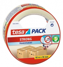 , Verpakkingstape Tesa 05042 strong 38mmx66m tranaparant