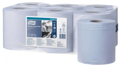 , Poetsrol Tork M2 128207 2laags 20cmx157m blauw 6rollen