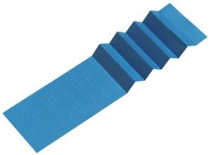 , Ruiterstrook voor Alzicht hangmappen 65mm blauw
