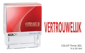 , Woordstempel Colop Printer 20 vertrouwelijk rood