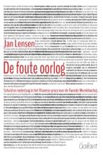 Jan  Lensen De foute oorlog