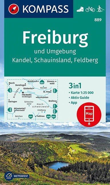 ,Freiburg und Umgebung, Kandel, Schauinsland, Feldberg 1:25 000