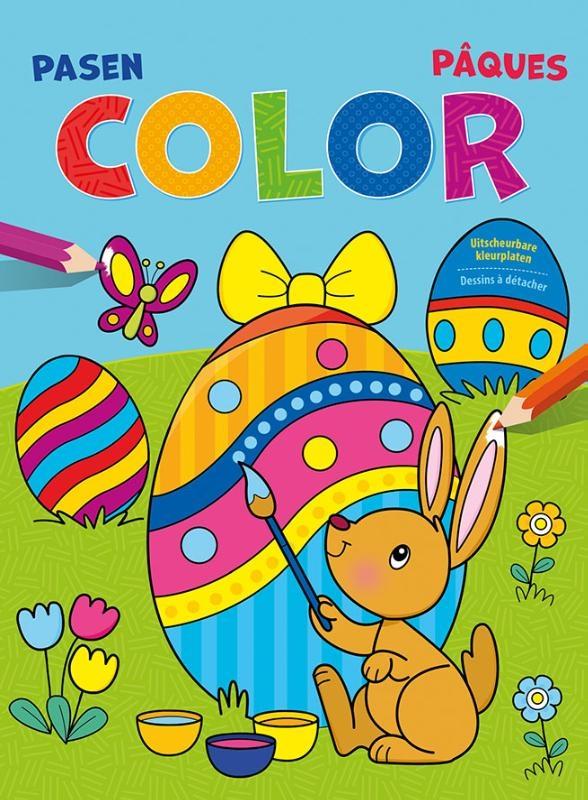 ,Pasen Color kleurblok Pâques Color bloc de coloriage