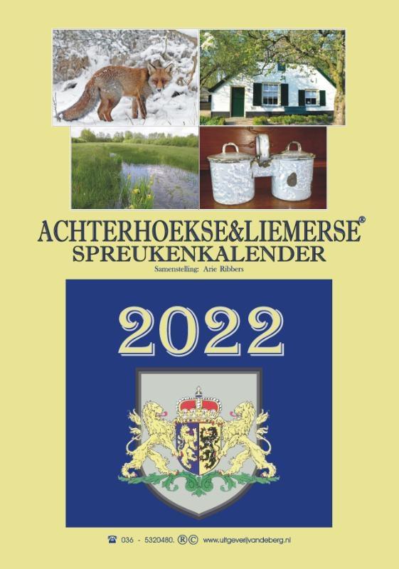 ,Achterhoekse & Liemerse spreukenkalender 2022