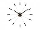 ,Wandklok Nextime dia. 58 cm, metaal, zwart, `Plug inn`