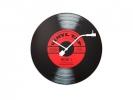 ,Wandklok NeXtime dia. 43 cm, glas, `Vinyl Tap`