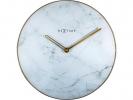 <b>!wandklok NeXtime dia. 40 cm  glas/metaal, wit `Marble`</b>,