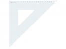 ,driehoek Aristo 26cm 45°  met facet rand