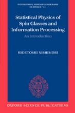 Hidetoshi (Department of Physics, Tokyo Institute of Technology) Nishimori Statistical Physics of Spin Glasses and Information Processing