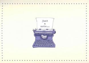 Typewriter Note Cards