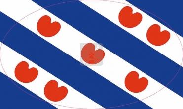, Autosticker friese vlag ovaal