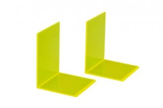 , Boekensteun MAUL 10x10x13cm acryl neon geel