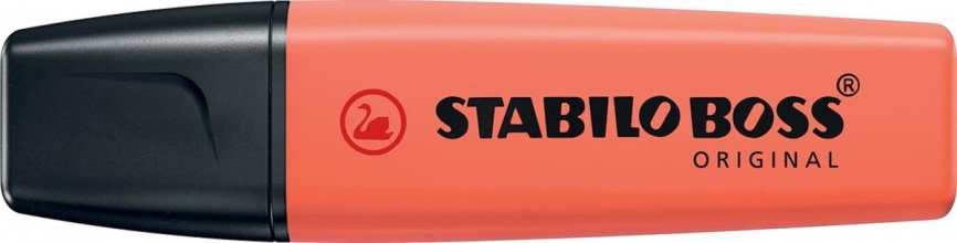 , Markeerstift stabilo boss 70/140 pastel zacht rood