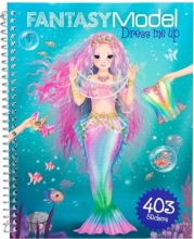 , Fantasy model dress me up stickerboek
