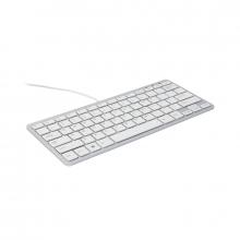 , Ergonomisch toetsenbord R-Go Tools Compact Azerty zilver-wit