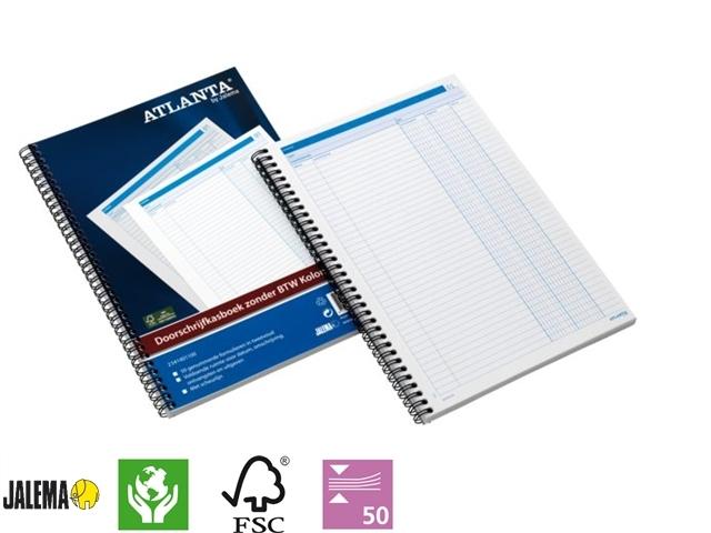 ,Doorschrijfkasboek Atlanta A4 50x2vel zonder BTW