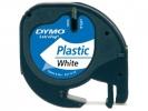 ,<b>Lettertape dymo letratag 12mmx4m plastic wit</b>