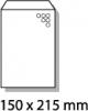 , luchtkussenenvelop Raadhuis 150x215mm C13 wit plakstrip     doos a 100 stuks