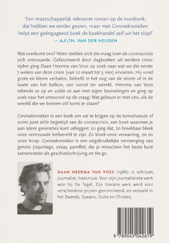 Daan Heerma van Voss,Coronakronieken