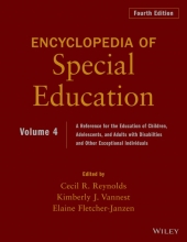Reynolds, Cecil R. Encyclopedia of Special Education, Volume 4