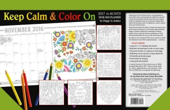 Keep Calm & Color On 2017 Desk Pad Planner
