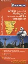 MICHELIN WEGENKAART 746 CENTRAAL EN ZUID AFRIKA, MADAGASCAR