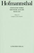 Hofmannsthal, Hugo von Dramen XVIIII. Lustspiele aus dem Nachla I