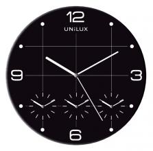 , Wandklok Unilux On Time  Ø30,5cm zwart/wit