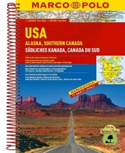 Verenigde Staten Alaska - Zuid-Canada Wegenatlas Marco Polo