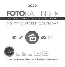 Foto-Bastelkalender 2020 groß datiert, weiß