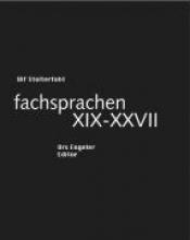 Stolterfoht, Ulf fachsprachen XIX-XXVII