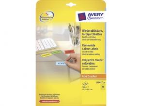 , etiket Avery ILK 45,7x21,2mm 20 vel 48 etiketten per vel    geel