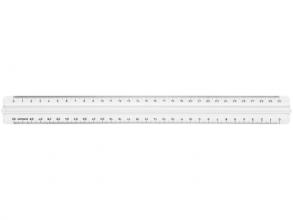 , Liniaal kunststof transp met grip 30 cm