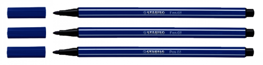 , Viltstift STABILO Pen 68/32 donkerblauw