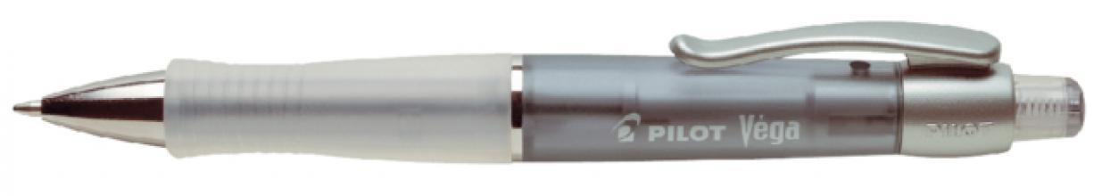 , Balpen PILOT Vega transparant zwart 0.32mm