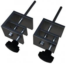, Bureauklemmen voor Nobo bureauscherm set à 2 stuks