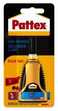 , Secondelijm Pattex Gold gel tube 3gram op blister