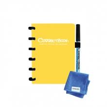 , Notitieboek Correctbook A6 lijn 40blz geel
