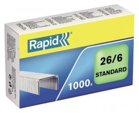 , Nieten Rapid 26/6 gegalvaniseerd standaard 1000 stuks
