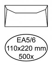 , Envelop Hermes bank EA5/6 110x220mm wit 500stuks